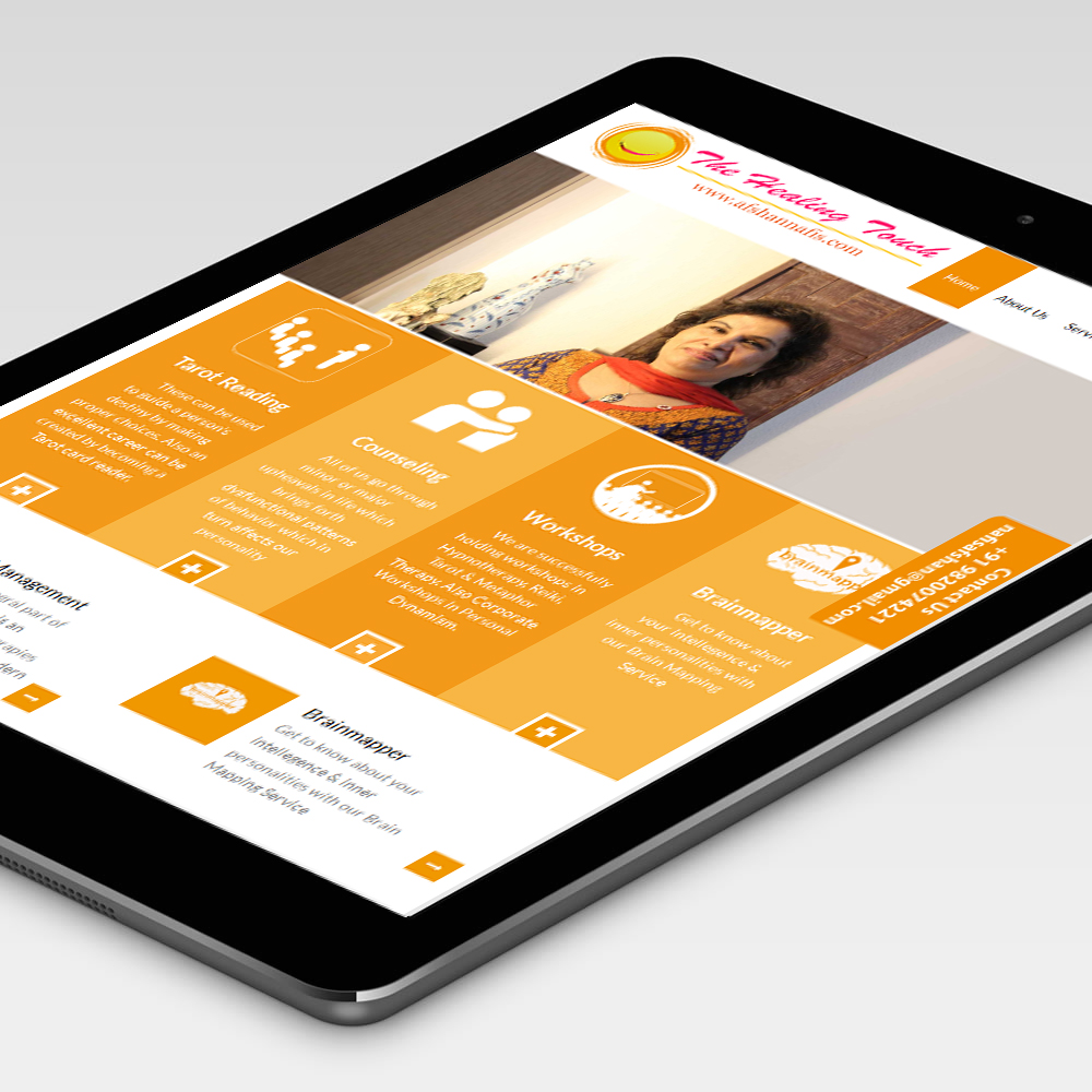 Responsive Website Design for The Healing Touch